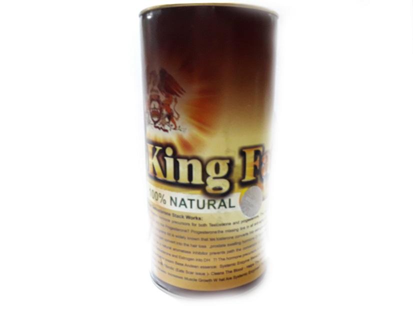 پودر چاقی گیاهی کینگ فت KING FAT کل بدون و صورت 600 گرمی