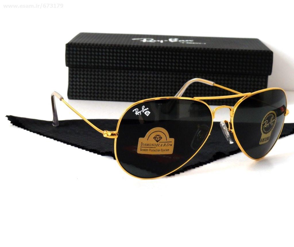 عینک آفتابی اصل و اورجینال خلبانی ری بن شیشه سنگی دیاموند هارد Ray-Ban Aviator RB 3025 Diamond Hard